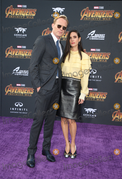 """Photo - 23 April 2018 - Hollywood, California - Paul Bettany and Jennifer Connelly. Disney and Marvel's """"Avengers: Infinity War"""" Los Angeles Premiere held at Dolby Theater. Photo Credit: F. Sadou/AdMedia"""