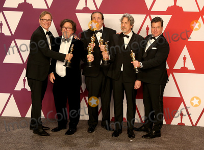 Jim Burke, Nick Vallelonga, Peter Farrelly, Brian Currie, Peter André Photo - 24 February 2019 - Hollywood, California - Jim Burke, Charles B. Wessler, Nick Vallelonga, Peter Farrelly, Brian Currie. 91st Annual Academy Awards presented by the Academy of Motion Picture Arts and Sciences held at Hollywood & Highland Center. Photo Credit: Faye Sadou/AdMedia