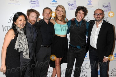 "Lou Taylor Pucci, Seth Green, Tyler Stentiford, Mackenzie Munro, Alonso Mayo, Lou Pucci Photo - 2 April 2013 - Beverly Hills, California - Nina Leidersdorff, Seth Green, Lou Taylor Pucci, Mackenzie Munro, Tyler Stentiford, Alonso Mayo. ""The Story of Luke"" Los Angeles Premiere held at the Laemmle Music Hall. Photo Credit: Byron Purvis/AdMedia"