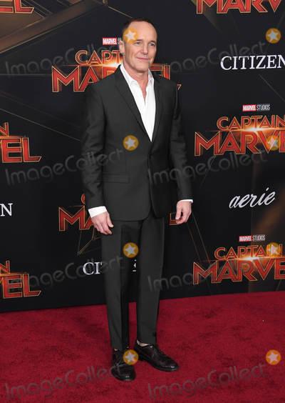 "Clark Gregg, Clarke Gregg Photo - 04 March 2019 - Hollywood, California - Clark Gregg. ""Captain Marvel"" Los Angeles Premiere held at El Capitan Theater. Photo Credit: Birdie Thompson/AdMedia"