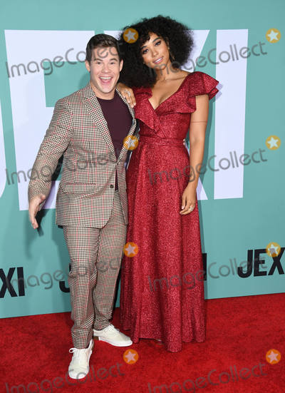 "Adam DeVine, Alexandra Shipp Photo - 03 October 2019 - Westwood, California - Adam Devine, Alexandra Shipp. ""Jexi"" Los Angeles Premiere held at Fox Bruin Theater. Photo Credit: Birdie Thompson/AdMedia"