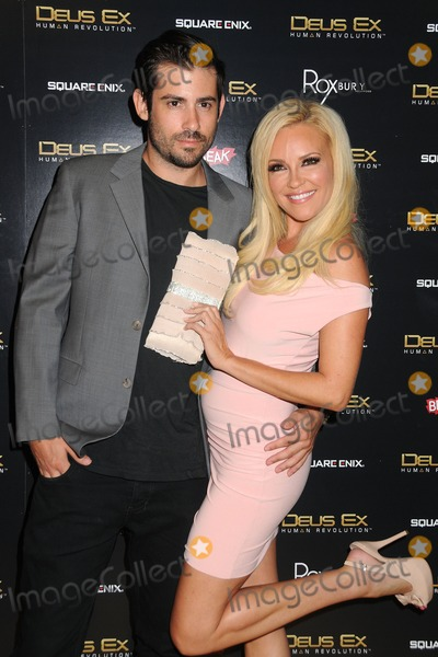 "Bridget Marquardt, Nicholas  Carpenter Photo - 23 August 2011 - Hollywood, California - Nicholas Carpenter and Bridget Marquardt. ""Deus Ex: Human Revolution"" Launch Party held at The Roxbury. Photo Credit: Byron Purvis/AdMedia"