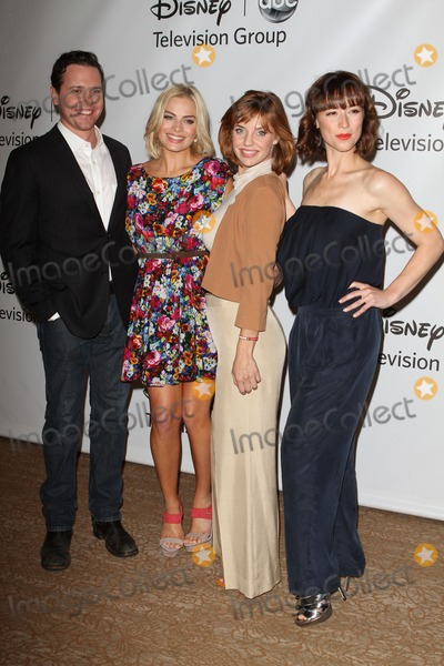 Kelli Garner, Michael Mosley, Karine Vanasse, Margot Robbie, Michael Bublé, Michael Paré Photo - 7 August 2011 - Beverly Hills, California - Margot Elise Robbie, Kelli Garner and Karine Vanasse. Disney ABC Televison Group's 'TCA 2001 Summer Press Tour' Held at the Beverly Hilton Hotel. Photo Credit: Kevan Brooks/AdMedia