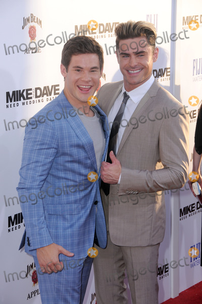 """Zac Efron, Adam DeVine Photo - 29 June 2016 - Hollywood. Adam Devine, Zac Efron. Arrivals for the Premiere Of 20th Century Fox's """"Mike And Dave Need Wedding Dates"""" held at Cinerama Dome at ArcLight Hollywood. Photo Credit: Birdie Thompson/AdMedia"""
