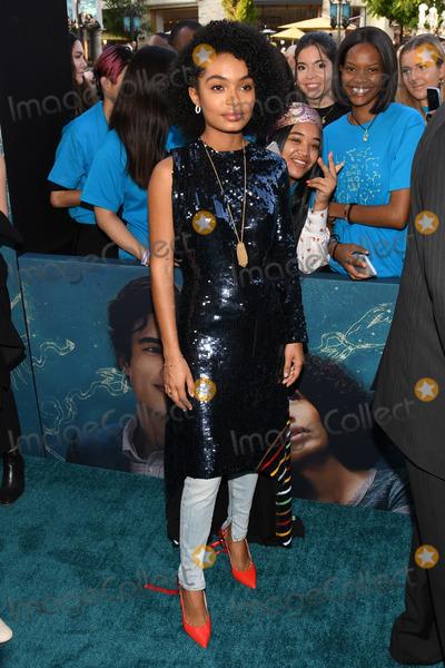 "Yara Shahidi Photo - 13 May 2019 - Los Angeles, California - Yara Shahidi. ""The Sun Is Also A Star"" Warner Bros World Premiere held at Pacific Theatres at The Grove. Photo Credit: Billy Bennight/AdMedia"