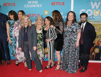 "Amy Poehler, Ana Gasteyer, Jason Schwartzman, Maya Rudolph, Rachel Dratch, Tina Fey, Paula Pell, Emily Spivey, Ana Ivanoviæ, Paula Guilló, Pelé, Piero Pelù Photo - Tina Fey, Maya Rudolph, Amy Poehler, Paula Pell,Rachel Dratch,Ana Gasteyer,Emily Spivey and Jason Schwartzman at the World Premiere of ""WINE COUNTRY"" at the Paris Theater in New York, New York , USA, 08 May 2019"