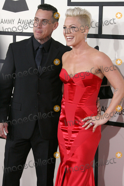 Alecia Moore, Carey Hart, Pink, Pink (Alecia Moore), Grammy Awards Photo - 26 January 2014 - Los Angeles, California - Carey Hart, Pink, Alecia Moore. 56th GRAMMY Awards held at the Staples Center. Photo Credit: AdMedia