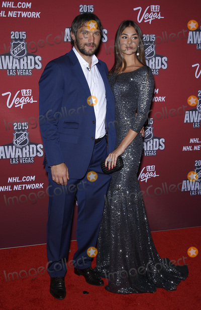 Alex Ovechkin Photo - 24 June 2015 - Las Vegas, Nevada -  Alex Ovechkin, Nastya Shubskaya. 2015 NHL Awards Red Carpet Arrivals at MGM Grand Hotel and Casino.  Photo Credit: MJT/AdMedia