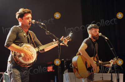 "Avett Brothers, The Avett Brothers, Scott Avett, Seth Avett Photo - 27 May 2011 - Pittsburgh, PA - Vocalist/guitarist SETH AVETT and vocalist/banjo player SCOTT AVETT of the band THE AVETT BROTHERS performs to a Sold Out crowd at a stop on their ""Summer Camp 2011 Tour"" held at Stage AE.  Photo Credit: Jason L Nelson/AdMedia"