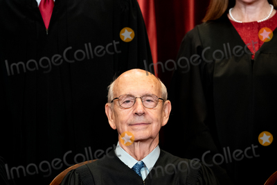 Supremes, The Supremes, Group Photo, Supreme Court Photo - Associate Justice of the Supreme Court Stephen G. Breyer sits during a group photo of the Justices at the Supreme Court in Washington, DC on April 23, 2021. Credit: Erin Schaff / Pool via CNP/AdMedia