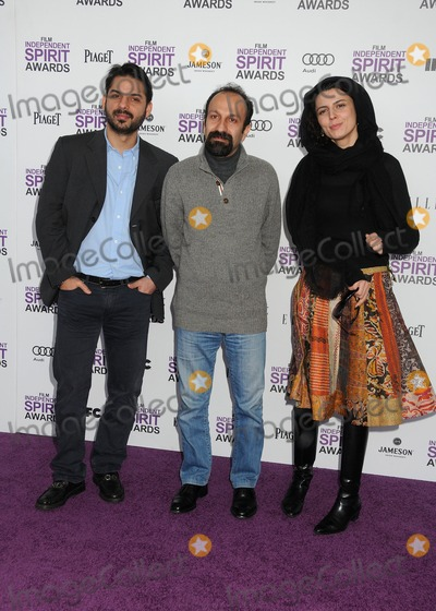 Asghar Farhadi, Leyla Hatami, Peyman Moadi Photo - 25 February 2012 - Santa Monica, California - Peyman Moadi, Asghar Farhadi, Leyla Hatami. 2012 Film Independent Spirit Awards - Arrivals held at Santa Monica Beach. Photo Credit: Byron Purvis/AdMedia