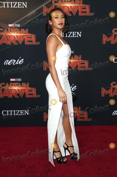 "Sydney Park Photo - 04 March 2019 - Hollywood, California - Sydney Park. ""Captain Marvel"" Los Angeles Premiere held at El Capitan Theater. Photo Credit: Faye Sadou/AdMedia"