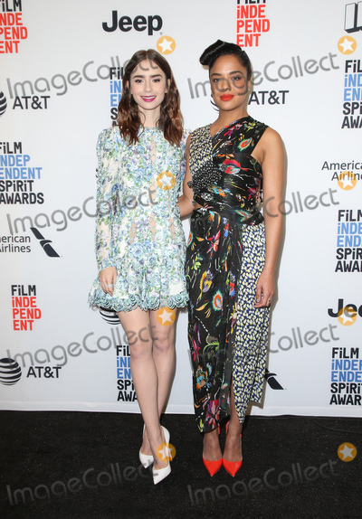 Lily Collins, Tessa Thompson Photo - 21 November 2017 -  West Hollywood, California - Lily Collins, Tessa Thompson. Film Independent 2018 Spirit Awards Press Conference held at The Jeremy Hotel. Photo Credit: Faye Sadou/AdMedia