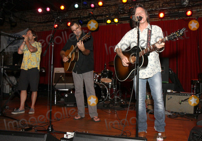 Vince Gill, Jeff Hanna, Pete Huttlinger Photo - July 26, 2011 - Nashville, TN - Jim HOke, Vince Gill and Jeff Hanna. Artists, musicians and songwriters came together at Mercy Lounge to help raise funds for Pete Huttlinger, a widely respected guitarist and Nashville studio artist.  Huttlinger has a congenital heart disease and is in need of a heart transplant. Photo credit: Dan Harr/Admedia