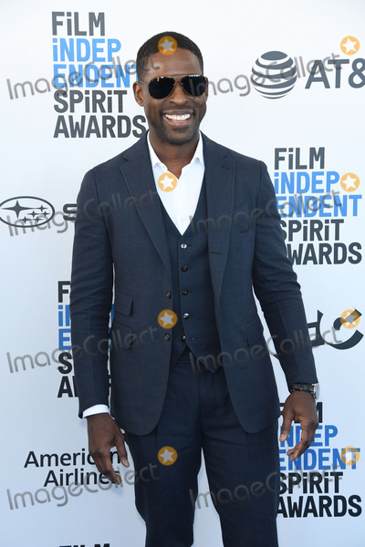 Photo - 23 February 2019 - Santa Monica, California - Sterling K. Brown. 2019 Film Independent Spirit Awards - Arrivals held at the Santa Monica Pier. Photo Credit: Birdie Thompson/AdMedia