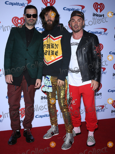 Jared Leto, Shannon Leto, Tomo Milicevic, 30 Seconds to Mars Photo - 22 September 2017 - Las Vegas, NV -  30 Seconds to Mars, Tomo Milicevic, Jared Leto, Shannon Leto. 2017 iHeartRadio Music Festival at the T-Mobile Arena. Photo Credit: MJT/AdMedia