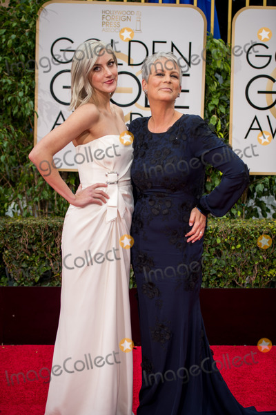 """Annie Guest, Jamie Lee Curtis, Queen, Jamie Lee, Jamie Salé Photo - Annie Guest and Jamie Lee Curtis, Golden Globe nominee for BEST PERFORMANCE BY AN ACTRESS IN A TELEVISION SERIES  COMEDY OR MUSICAL for her role in """"Scream Queens,"""" arrive at the 73rd Annual Golden Globe Awards at the Beverly Hilton in Beverly Hills, CA on Sunday, January 10, 2016. Photo Credit: HFPA/AdMedia"""