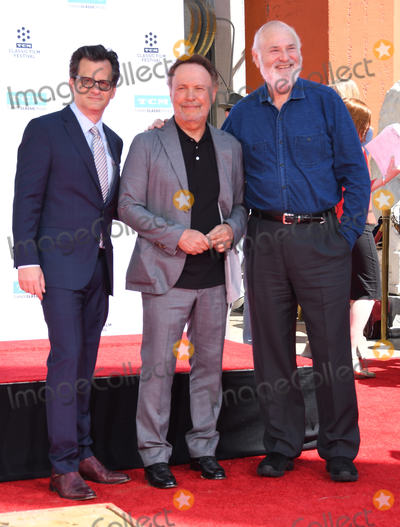 Ben Mankiewicz, Billy Crystal, Rob Reiner, TCL Chinese Theatre Photo - 12 April 2019 - Hollywood, California - Ben Mankiewicz, Billy Crystal, Rob Reiner. TCM Honors Billy Crystal With A Hand and Footprint Ceremony held at the TCL Chinese Theatre. Photo Credit: Birdie Thompson/AdMedia