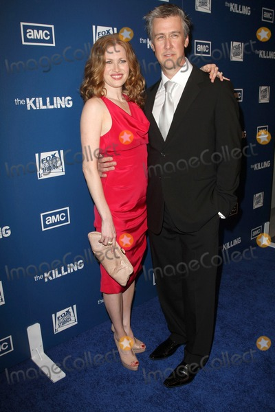 """Alan Ruck, Mireille Enos, Ruck, The Kills Photo - 21  March 2011 - Los Angeles, California - Mireille Enos; Alan Ruck. Premiere Of AMC's Series """"The Killing""""e Held At The Harmony Gold Theatre. Photo: Kevan Brooks/AdMedia"""