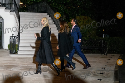Donald Trump, Donald Trump Jr, Donald Trump Jr., Donald Trump, Jr, Donald Trump, Jr., Ivanka Trump, Kimberly Guilfoyle, White House, The White Photo - First Daughter and Advisor to the President Ivanka Trump, Donald Trump Jr. and Kimberly Guilfoyle return to the White House after a visit to Dalton, Georgia, in Washington D.C., U.S., on Tuesday, January 5, 2021. Photographer: Erin Scott/Bloomberg