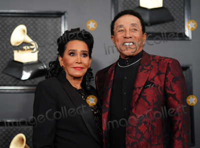 Smokey Robinson, Grammy Awards Photo - 26 January 2020 - Los Angeles, California - Frances Glandney, Smokey Robinson. 62nd Annual GRAMMY Awards held at Staples Center. Photo Credit: AdMedia