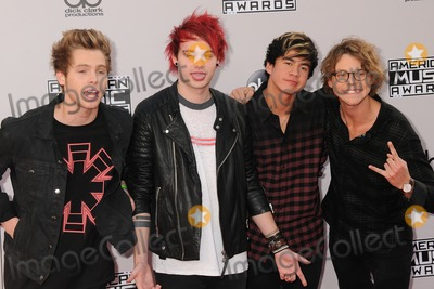 Photo - 23 November 2014 - Los Angeles, California - 5 Seconds To Summer. American Music Awards 2014 - Arrivals held at Nokia Theatre LA Live. Photo Credit: Byron Purvis/AdMedia