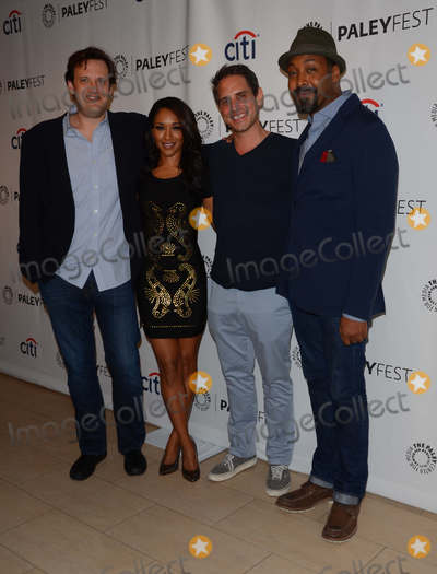 """Greg Berlanti, Jesse L Martin, Jesse L Martin, Jesse L. Martin, The Virgins, Andrew Kreisberg, Candice Patton Photo - 06 September 2014 - Beverly Hills, California - Andrew Kreisberg, Candice Patton, Greg Berlanti, Jesse L. Martin. The 2014 Paleyfest Fall TV Previews for CW's """"The Flash"""" and """"Jane the Virgin"""" held at  The Paley Center for Media in Beverly Hills, Ca. Photo Credit: Birdie Thompson/AdMedia"""
