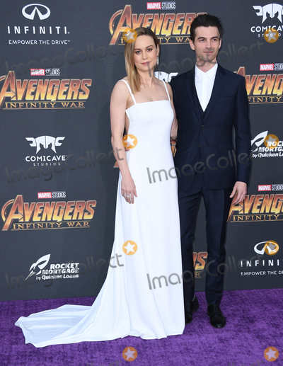 "Alex Greenwald, Brie Larson Photo - 23 April 2018 -  Hollywood, California - Brie Larson, Alex Greenwald. Disney and Marvel's ""Avengers: Infinity War"" Los Angeles Premiere held at Dolby Theater. Photo Credit: Birdie Thompson/AdMedia"