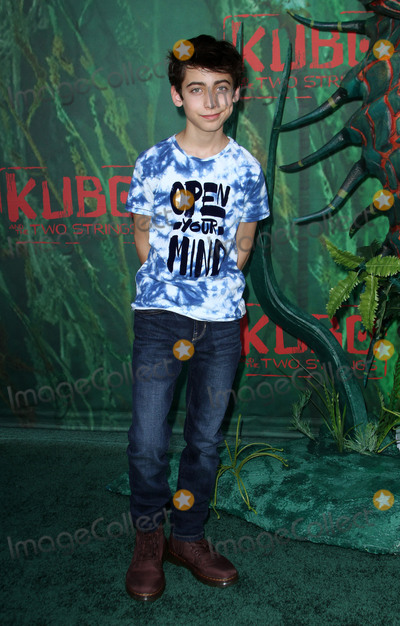 Aidan Gallagher, Gallagher Photo - 14 August 2016 - Los Angeles, California - Aidan Gallagher. Kubo and The Two Strings World Premiere held at the AMC Universal City Walk Universal Studios Hollywood in Los Angeles. Photo Credit: AdMedia