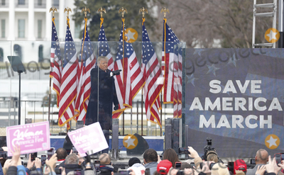 Joe Biden Photo - US President Donald J. Trump delivers remarks to supporters gathered to protest Congress' upcoming certification of Joe Biden as the next president on the Ellipse in Washington, DC, USA, 06 January 2021. Various groups of Trump supporters are gathering to protest as Congress prepares to meet and certify the results of the 2020 US Presidential election.