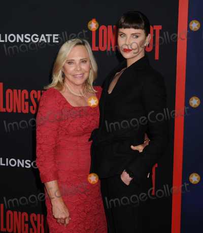 """Charlize Theron Photo - Gerda Jacoba Aletta Maritz (mother) and Charlize Theron at the New York Premiere of """"LONG SHOT"""", at AMC Lincoln Square in New York, New York, USA, 30 April 2019"""