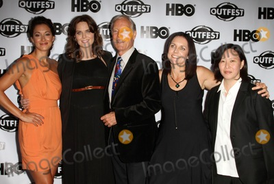 "Emily Deschanel, Richard Chamberlain, Anne Renton, Angelique Cabral, Angelique  Cabral Photo - 17 July 2011 - West Hollywood, California - Angelique Cabral, Emily Deschanel, Richard Chamberlain, Anne Renton, Kim Yutani. 2011 Outfest Film Festival Screening Of ""The Perfect Family"" Closing Night- Arrivals  Held At The DGA Theatre. Photo Credit: Kevan Brooks/AdMedia"
