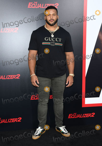 """Aaron Donald, TCL Chinese Theatre Photo - 17 July 2018 - Hollywood , California - Aaron Donald. """"The Equalizer 2"""" Los Angeles Premiere held at the TCL Chinese Theatre. Photo Credit: Birdie Thompson/AdMedia"""