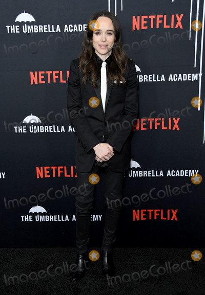 "Ellen Page Photo - 12 February 2019 - Hollywood, California - Ellen Page. Netflix's ""The Umbrella Academy"" Los Angeles Premiere held at the Arclight Hollywood. Photo Credit: Birdie Thompson/AdMedia"