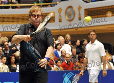 """Elton John, Sir Elton John, Andy Roddick, Martina Navratilova, Amelie Mauresmo, Coco, Jan-Michael Gambil, Jan-Michael Gambill, Coco Vandeweghe Photo - 27 October 2011 - Cleveland, OH - Musician SIR ELTON JOHN brought his annual """"World TeamTennis Smash Hits"""" charity night of tennis to Cleveland for the first time in the events 19-year history. Tennis greats Andy Roddick, Martina Navratilova, John McEnroe, Amelie Mauresmo, Coco Vandeweghe, Jan-Michael Gambill, and Cleveland area native Lauren Davisjoined other top players for WTT Smash Hits presented held at Public Hall. Photo Credit: Jason L Nelson/AdMedia"""