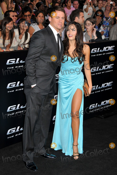 "Channing Tatum, Jenna Dewan, Grauman's Chinese Theatre Photo - 06 August 2009 - Hollywood, CA - Channing Tatum and Jenna Dewan. ""G.I. Joe: The Rise Of Cobra"" Los Angeles Special Screening held at Grauman's Chinese Theatre. Photo Credit: Byron Purvis/AdMedia"