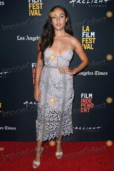 Aurora Perrineau, Aurora, The Darkness Photo - 21 September 2018 - Beverly Hills, California - Aurora Perrineau. 2018 LA Film Festival - Into The Dark, 'The Body' World Premiere held at the Writers Guild Theater. Photo Credit: Birdie Thompson/AdMedia