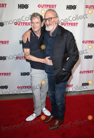 "Robert Englund, Mark Patton, Teairra Marí Photo - 20 July 2019 - Hollywood, California - AMark Patton, Robert Englund. Cast Reunion Of New Line Cinema's ""Nightmare On Elm Street"" At Outfest Film Festival held at TCL Chinese 6 Theatres. Photo Credit: Faye Sadou/AdMedia"