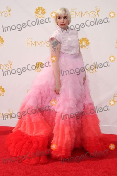 Lena Dunham Photo - 25 August 2014 - Los Angeles, California - Lena Dunham. 66th Annual Primetime Emmy Awards - Arrivals held at Nokia Theatre LA Live. Photo Credit: Byron Purvis/AdMedia