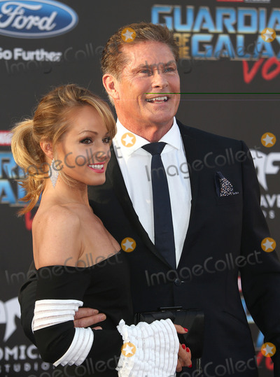 """David Hasselhoff, Hayley Roberts Photo - 19 April 2017 - Hollywood, California - Hayley Roberts, David Hasselhoff. Premiere Of Disney And Marvel's """"Guardians Of The Galaxy Vol. 2"""" held at the Dolby Theatre. Photo Credit: AdMedia"""