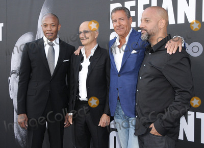 "Allen Hughes, Dr Dre, Dr. Dre, Dres, Jimmy Iovine, Richard Plepler, Hüsker Dü Photo - 22 June 2017 - Hollywood, California - Dr. Dre, Jimmy Iovine, Richard Plepler, Allen Hughes. HBO's ""The Defiant Ones"" Los Angeles premiere held at Paramount Theater in Hollywood. Photo Credit: Birdie Thompson/AdMedia"
