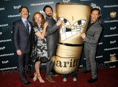 "MARIA THAYER, Ben Roy, Andrew Orvedahl, Adam Cayton-Holland Photo - 28 January 2016 - Los Angeles, California - Andrew Orvedahl, Maria Thayer, Adam Cayton-Holland, Ben Roy. ""Those Who Can't"" Series Premiere held at The Wilshire Ebell Theatre. Photo Credit: Byron Purvis/AdMedia"
