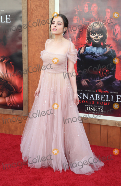 "Katie Sarife Photo - 20 June 2019 - Westwood, California - Katie Sarife. The Premiere Of Warner Bros' ""Annabelle Comes Home""  held at Regency Village Theatre. Photo Credit: Faye Sadou/AdMedia"