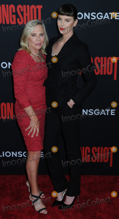 "Charlize Theron Photo - Gerda Jacoba Aletta Maritz (mother) and Charlize Theron at the New York Premiere of ""LONG SHOT"", at AMC Lincoln Square in New York, New York, USA, 30 April 2019"