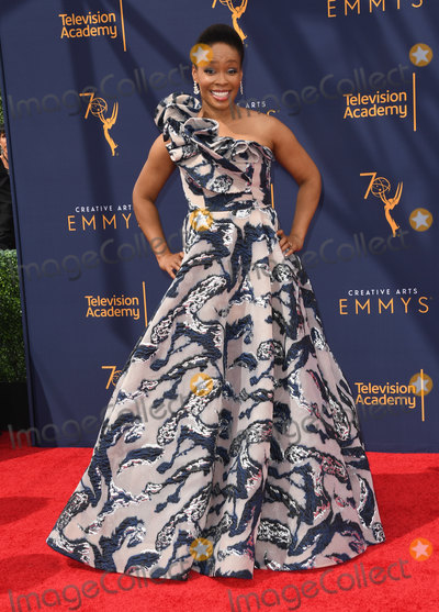 Amber Ruffin Photo - 09 September 2018 - Los Angeles, California - Amber Ruffin. 2018 Creative Arts Emmy Awards - Arrivals held at Microsoft Theater. Photo Credit: Birdie Thompson/AdMedia