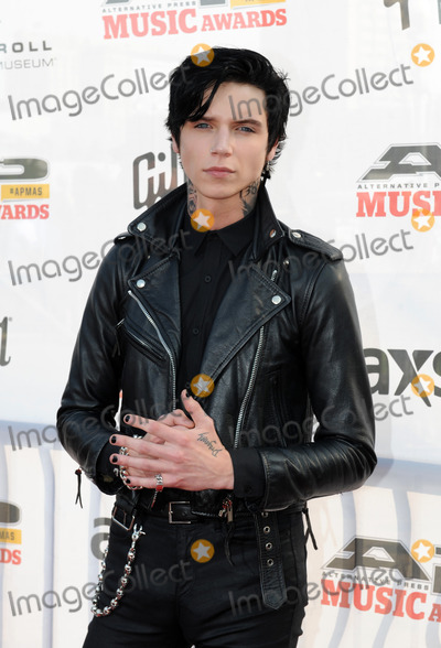 Andy Biersack, THE ROCK Photo - 21 July 2014 - Cleveland, OH - Music artist  ANDY BIERSACK of the group BLACK VEIL BRIDES attends the 1st Annual 2014 Gibson Brands AP Music Awards at the Rock and Roll Hall of Fame and Museum   Photo Credit: Jason L Nelson/AdMedia