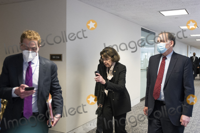 Dianne Feinstein, Senator Dianne Feinstein, The Unit, The Used Photo - United States Senator Dianne Feinstein (Democrat of California) and other Senators evacuate to a safe place in the Dirksen Senate Office Building after Electoral votes being counted during a joint session of the United States Congress to certify the results of the 2020 presidential election in the US House of Representatives Chamber in the US Capitol in Washington, DC on Wednesday, January 6, 2021, as interrupted as thousands of pr-Trump protestors stormed the U.S. Capitol and the House chambers.  .Credit: Rod Lamkey / CNP/AdMedia