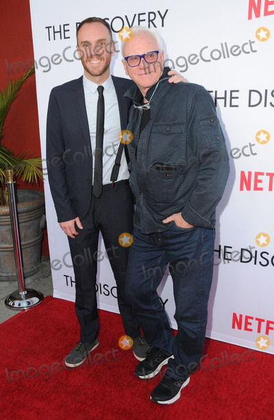 "Photo - 29 March 2017 - Los Angeles, California - Charlie McDowell, Malcolm McDowell.  Premiere Of Netflix's ""The Discovery"" held at The Vista Theater in Los Angeles. Photo Credit: Birdie Thompson/AdMedia"