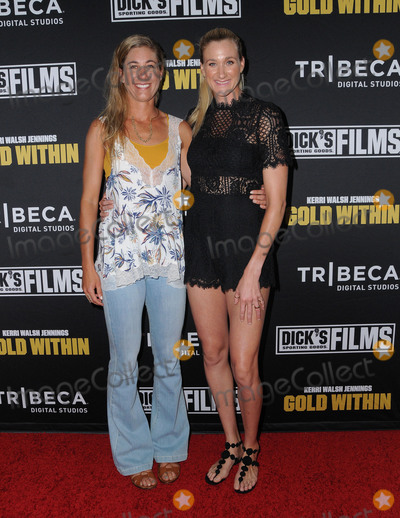 "Kerri Walsh, April Ross Photo - 28 July 2016 - Beverly Hills, California. April Ross, Kerri Walsh Jennings. The world film premiere of ""Kerri Walsh Jennings: Gold Within""  held at the Paley Center for Media. Photo Credit: Birdie Thompson/AdMedia"