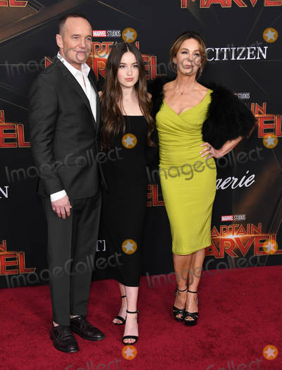"Clark Gregg, Jennifer Grey, Clarke Gregg Photo - 04 March 2019 - Hollywood, California - Clark Gregg, Jennifer Grey. ""Captain Marvel"" Los Angeles Premiere held at El Capitan Theater. Photo Credit: Birdie Thompson/AdMedia"